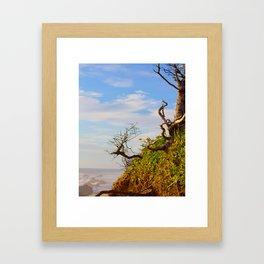 HDR Sandy Cliffs Framed Art Print