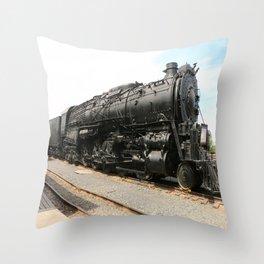 Steam Locomotive Number 5021 Sacramento Throw Pillow