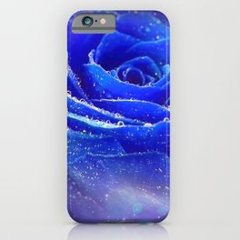 Gracious Gorgeous Blue Rose Blossom Galaxy Ultra HD iPhone Case