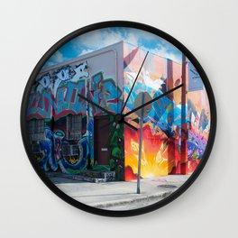 Tattooed Walls form Wynwood Miami Grafitti 2 Wall Clock