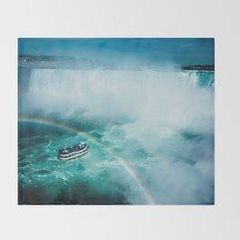 Niagara Falls Rainbow Throw Blanket