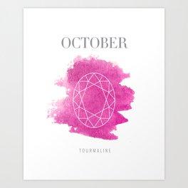 October Birthstone Art Print