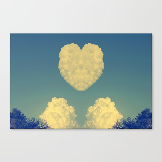Cloudy Heart  Canvas Print