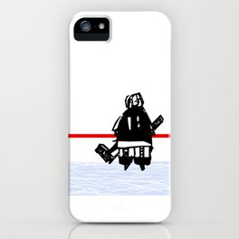 The Goalie - after a hockey game iPhone Case