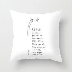 reach as high as you can Throw Pillow