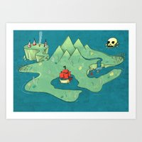 neverland Art Prints featuring Neverland by Quinn Shipton
