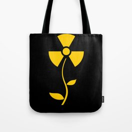 Radioactive flower Yellow design Tote Bag