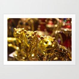 Golden Tigers of Dubai Art Print