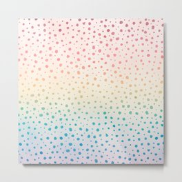 Rainbow Dot Pattern Metal Print