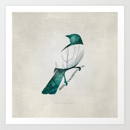 A little birdy Art Print