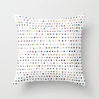 dots Throw Pillows featuring Dots by Farnell