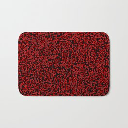 thought 2, red on black Bath Mat