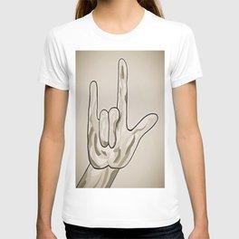 ASL I Love You Sepia Tones T-shirt