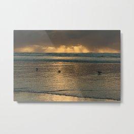 Beach Sunset II :: California Coast Metal Print