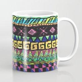 90's Neon Surf Stripes 1 Coffee Mug