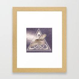 Nuit, the great-horned owl on white Framed Art Print