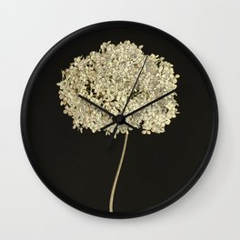 East Flower Dark Wall Clock