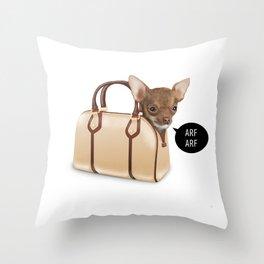BagDog Throw Pillow
