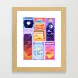 Sky bottles Framed Art Print
