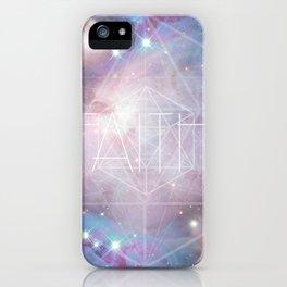 Faith - icosahedron iPhone Case