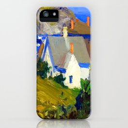 Edward Hopper Monhegan Houses iPhone Case