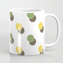 Yellow Green Spot Dot Geometric Print Coffee Mug