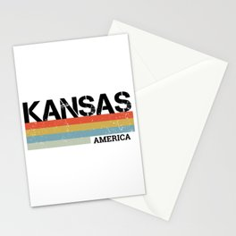 Kansas Design Gift & Souvenir For Kansas Print Stationery Cards