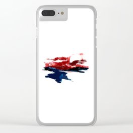 Atonement hour - dark sunset of purgatory Clear iPhone Case