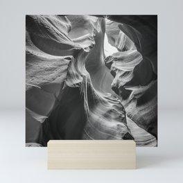 ANTELOPE CANYON Rock Formation | monochrome Mini Art Print