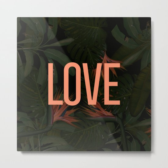 LOVE in the Forest Metal Print