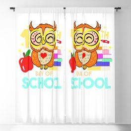 100th Day Of School For Owl Lover Blackout Curtain
