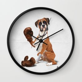 The Boxer (Wordless) Wall Clock