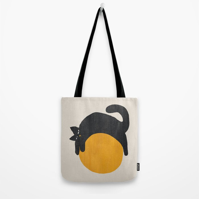Cat with ball Tote Bag