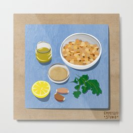 Chickpeas Hummus Ingredients Metal Print