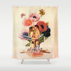 It Ends with a Bang! Shower Curtain