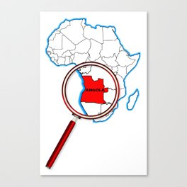 Angola Under The Magnifying Glass Canvas Print