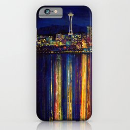 Seattle Night Skyline #2 iPhone Case