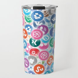 Social networks Travel Mug