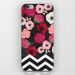 Chevron Flowers iPhone Skin