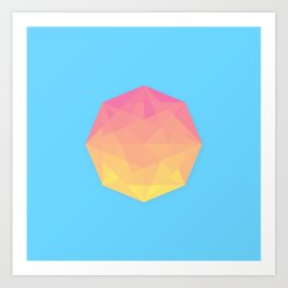 Primitive Sun Art Print