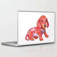 mini Laptop & iPad Skins featuring Mini Dachshund  by Ola Liola