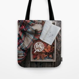 Marshmallows, Hot Chocolate, Autumn Tote Bag