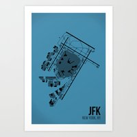 jfk Art Prints featuring JFK by 08 Left