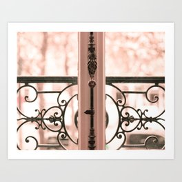 Paris in Blush Pink III Art Print