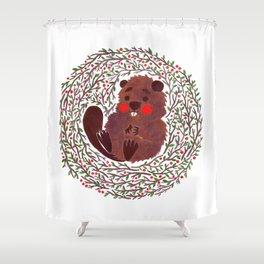 Baby Beaver Shower Curtain