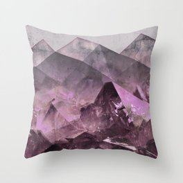 Quartz Mountains Throw Pillow