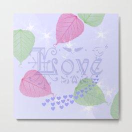 Love Like a Leaf in the Wind Metal Print