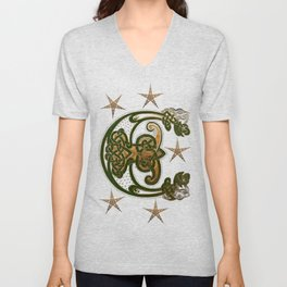 Hunter and Gold Celtic Unisex V-Neck