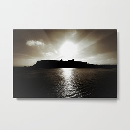 Whitby abbey sunset Metal Print