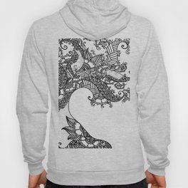 Zen Tree Rebirth White Right Half Hoody